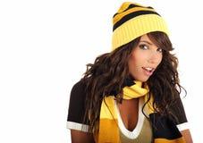 зима шлема девушки сексуальная нося Стоковое фото RF