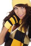 зима шлема девушки сексуальная нося Стоковые Изображения RF