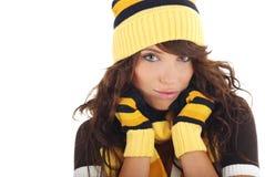 зима шлема девушки сексуальная нося Стоковые Фотографии RF