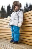 зима шлема ребенка нося Стоковая Фотография RF