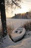 зима шлюпки стоковое изображение
