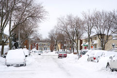 зима шторма снежка пейзажа Стоковая Фотография
