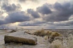 зима шторма Стоковые Изображения RF