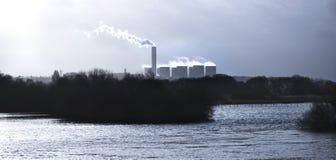 Зима - электростанция Стоковое Фото