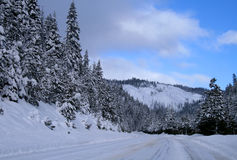 зима 3 дорог Стоковое Фото