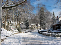 зима 3 улиц Стоковое фото RF