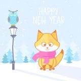 Зима Fox Стоковая Фотография