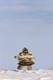 зима inukshuk Канады Стоковая Фотография