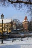 зима krakow planty Польши Стоковые Изображения RF