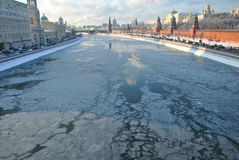 зима kremlin moscow Стоковое Изображение