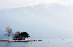 зима lago di garda Стоковая Фотография RF