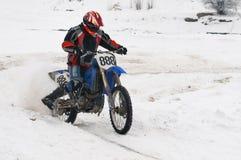 зима motocross Стоковые Изображения RF