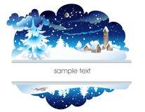 зима nighttime ландшафта Стоковая Фотография RF
