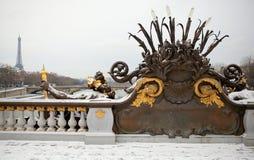 зима paris Стоковая Фотография RF