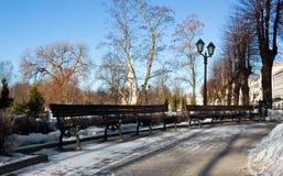 зима riga парка стенда Стоковая Фотография RF