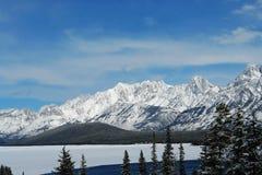 зима rockies озера Стоковые Изображения