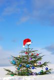 зима santa шлема традиционная Стоковое Фото