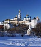зима sergiev posad скита Стоковое фото RF