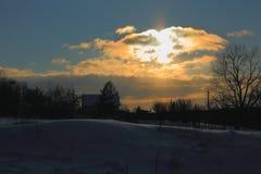 зима snezka горы ландшафта предпосылки чехословакская самая высокая Стоковое Изображение