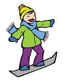 зима snowboard Стоковое Изображение RF