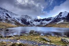 зима snowdonia Стоковое Фото