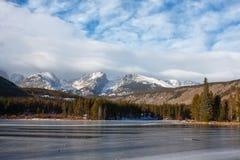 зима sprague гор озера утесистая Стоковое Изображение RF