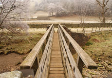 зима swaledale моста Стоковое Изображение