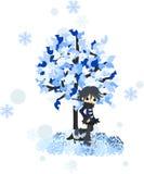 Зима tree-2 иллюстрация вектора