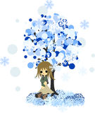 Зима tree-3 иллюстрация вектора