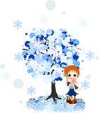 Зима tree-4 иллюстрация вектора