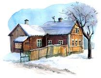 зима vladimir села России зоны kozlovo Стоковые Фото