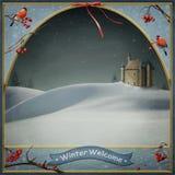 зима welcom иллюстрация вектора