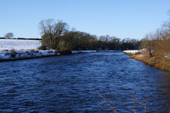 Зимнее река annan Стоковое фото RF