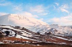 Зимний ландшафт осени от Исландии стоковое фото