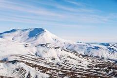 Зимний ландшафт осени от Исландии стоковая фотография rf