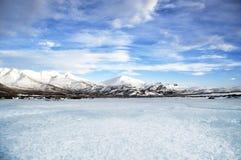 Зимний ландшафт от Исландии стоковые изображения rf