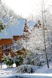 Зимний день в стране Стоковые Изображения