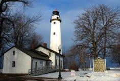 Зимний день на свете Стоковые Фото