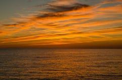 Зимний заход солнца Стоковые Фотографии RF
