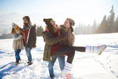 Зимний отдых стоковое фото
