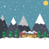 Зимний отдых, иллюстрация Стоковые Изображения RF
