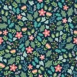 Зимний цветочный узор Стоковое Изображение