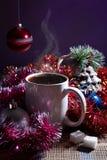 Зимы жизнь все еще с кофе Стоковые Фото