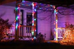 Зимы сезона дома украшение outdoors Стоковое фото RF