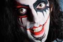 злейшая сторона клоуна Стоковое фото RF