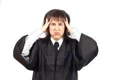 зленный женский судья стоковая фотография rf