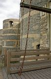 злит drawbridge замока открытый Стоковое Изображение RF