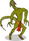 злодейка reptilian супер иллюстрация вектора