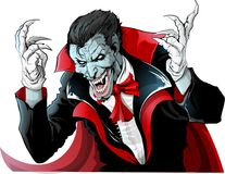 Злое изображение вампира Стоковые Изображения RF