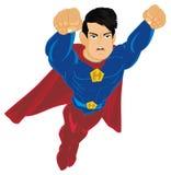 Злое летание супермена иллюстрация штока